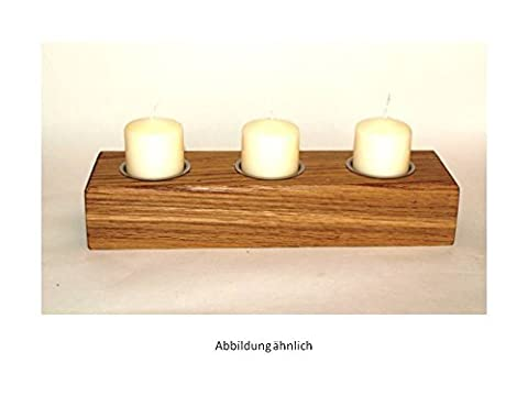 Teelichthalter/ Kerzenständer Eiche massiv, geölt, handgefertigt- ca. 25,00 cm x