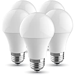 V-TAC Bombilla LED E27, 10 W equivalente a 60 W, 806 lúmenes, Color: Blanco cálido 2700K, 200° - 5 unidades