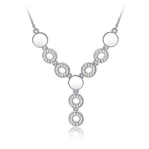 Élégant cristal autrichien SWAROVSKI ELEMENTS Collier Connecté en cristal Bonheur Temps claire