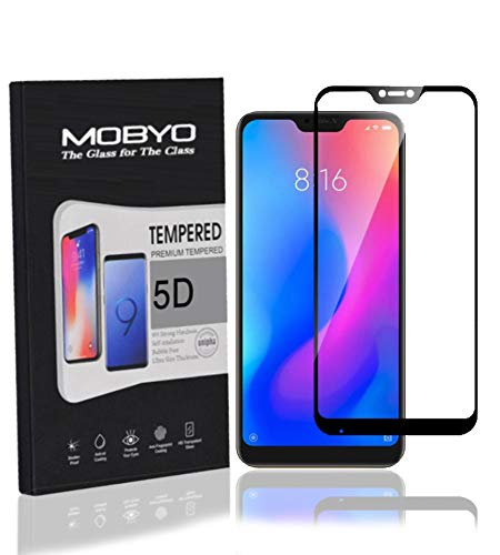 MOBYO™ Redmi 6 Pro Tempered Glass 5D Mobile Phone Screen Guard (Black)