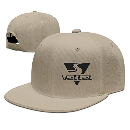 hittings Sebastian Vettel Unisex Fashion Cool Adjustable Snapback baseball cap hat One Size Natural