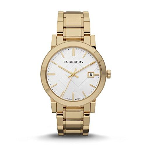 Burberry BU9003 Watch, Men's Swiss Gold Ion-Plated Stainless Steel Bracelet 38mm
