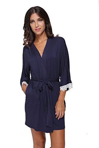 The Bund Damen Belted Relaxed Cotton Cargo-Shorts gro Dunkelblau (Stricken Der Frauen Robe)