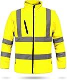 normani 2-in-1 Softshell Warnschutzjacke Arbeitsjacke nach EN 20471 [S-4XL] Farbe Neongelb/Marine Größe XL