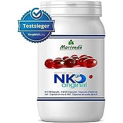 NKO aceite de krill cápsulas (ganador de la prueba) 30, 90 o 270 pieza en calidad de farmacia de MoriVeda - Omega 3,6,9 astaxantina, vitamina E, colina, fosfolípidos, aceite de krill (90 cápsulas)