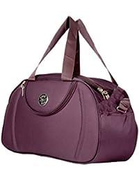 La Polo 1 Fabric Large Size Purple 2 wheels Travel Duffel Bag