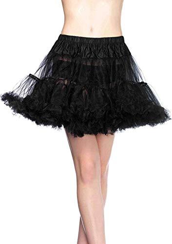 LEG AVENUE 8990X - Petticoat Schwarz Kostüm Damen Karneval, Übergroße (EUR 46-50) Penthouse High Heel