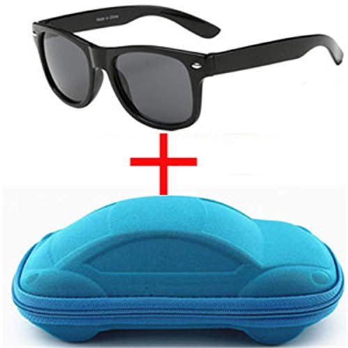 Jeewly Klassische Sportsonnenbrille, Children UV400 Sunglasses Kids Children Cool Sun Glasses 100% UV Protection Eyeglasses Sunglasses For Travel Boy Girl With Case