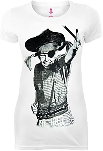 original PIPPI LANGSTRUPMPF Retro Damen Girl T-Shirt PIRAT -