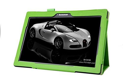 Lobwerk Tablet Schutzhülle für Lenovo Tab 10 TB-X103F 10.1 Zoll Hülle aus Kunstleder Smart Cover Flip Case Grün
