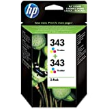 HP 343 2-pack Tri-color Original Ink Cartridges (CB332EE)