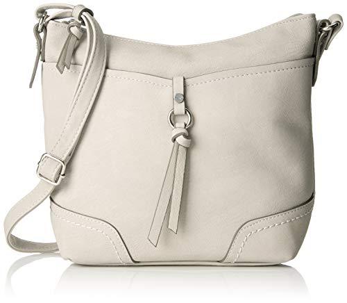 TOM TAILOR Umhängetasche Damen, Imeri, Weiß, 28x25x8.5 cm, TOM TAILOR Taschen für Damen