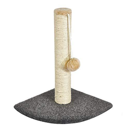 Meerveil Kratzbaum Klein, Katzenbaum für Eine Einzelne Katze, Säulen mit Natürlicher Sisal Umwickelt (40×40×41 cm)