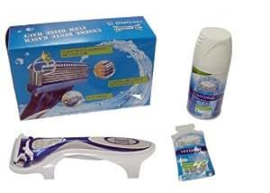Rasoir wilkinson hYDRO 5 kit/hYDRO gel peaux sensibles 75 ml hYDRO sensitiv probierpack gel 4 ml