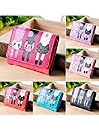 Tradico® 2017 New 2017 Practical Short Women Girl Cat Purse Wallet Small Button Handbag Practical LIUX Hot