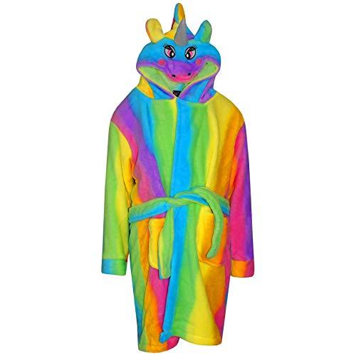 A2Z 4 Kids Kinder Mädchen Jungen Bademäntel Desinger Regenbogen 3D Tier - Bathrobe Unicorn 121 Rainbow_13