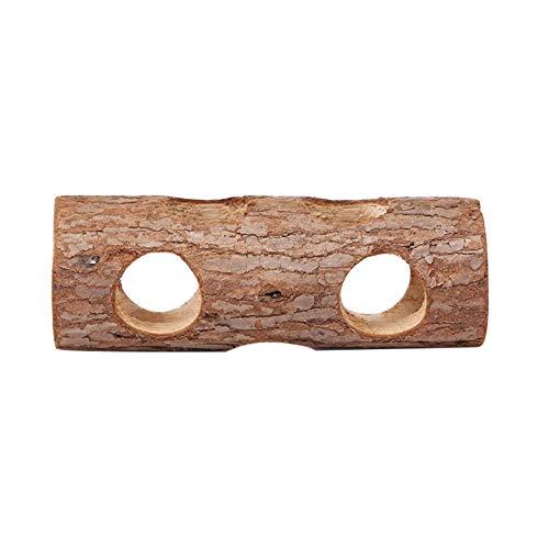 Domire Túnel de hámster hámster Nido de Madera Cama Casa Jaula de hámster Juego Juguete Juguete Tubo Hueco del Tronco de árbol de hámster