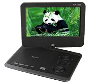 """Xoro HSD 7799 Lecteur DVD portable Écran 16:9 avec rétroéclairage LED 22,8 cm (9"""") Tuner TNT Lecteur de cartes / USB 2.0 Gris/noir (Import Allemagne)"""
