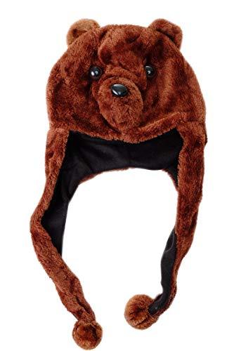 DRESS ME UP - H90/Bear Party Hut Mütze Halloween Karneval Bär Teddybär braun Halloween Karneval ca. 57 cm