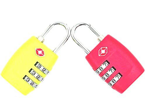 Cerraduras combinación 3 dígitos JYHY® TSA, candados