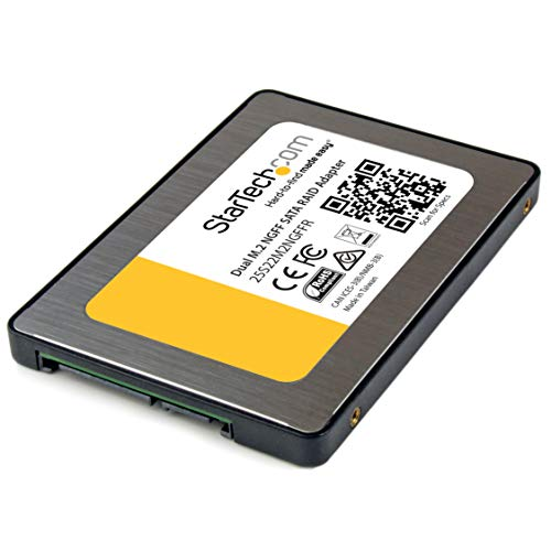 StarTech.com 25S22M2NGFFR Dual M.2 SATA Adapter mit RAID (2x M.2 SSD auf 2,5 Zoll SATA (6Gbit/s) RAID Adapter / Konverter mit TRIM Unterstützung) -