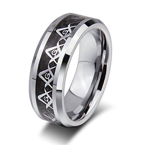 Rongxing Jewelry Damen-Verlobungsring Band Titan Stahl Ringe Größe 7–13silber Geschenk, - Damen-verlobungsringe, Größe 11