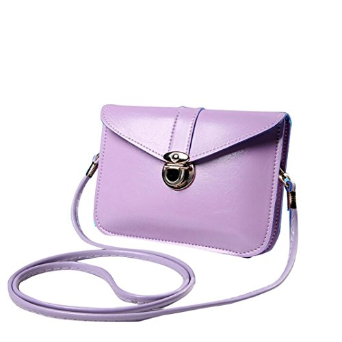 Transer Artificial Leather Handbags & Single Shoulder Bags Women Zipper Bag Girls Hand Bag, Borsa a spalla donna Multicolore Gold 17cm(L)*12(H)*4cm(W), Yellow (Multicolore) - CQQ60901345 Light Purple