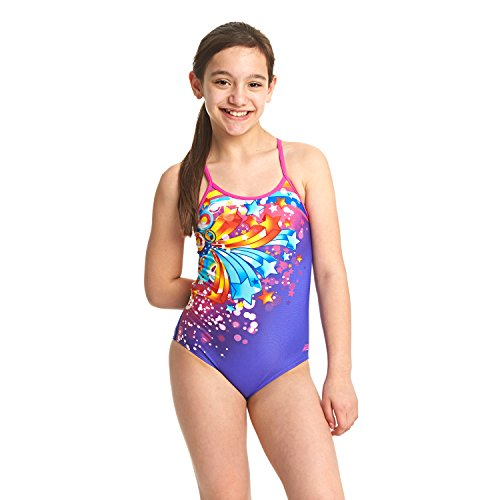 Zoggs Girls' Shooting Star Bella Crossback Swimsuit