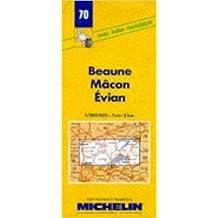 Carte routière : Beaune - Mâcon - Evian, 70, 1/200000 (Anglais) de Carte Michelin ( 7 mai 1980 )