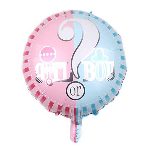 llon Helium mit Fragezeichen Bild 'Girl or Boy' Aluminiumfolie Ballon für Baby-Dusche oderTaufe, Rosa und Blau, Ballon Serie Size 18 Zoll ()