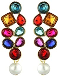 Zaveri Pearls Multicolor Metal Dangle & Drop Earring For Women-Zpfk1442