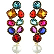 Zaveri Pearls Multicolor Metal Dangle & Drop Earring For Women-Zpfk1442