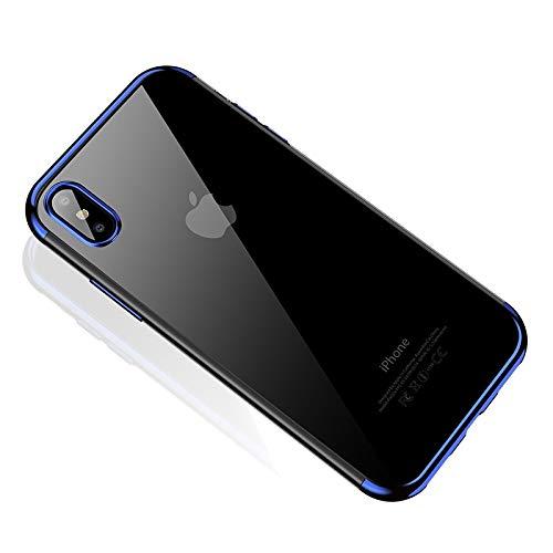 Pnizun - CAFELE weichen TPU für iPhone X Xr XS Max Fällen extrem dünne transparente Beschichtung glänzender Fall für iPhone XS Mixed Silikonabdeckung [Blau Für iPhone Xr] - Blau Iphone Otterbox-fälle 6