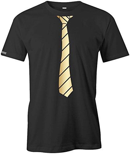 JGA - Krawatte Business Style - Herren T-SHIRT in Schwarz-Gold by Jayess Gr. XXXL (T-shirt Männer Und Krawatten Für)