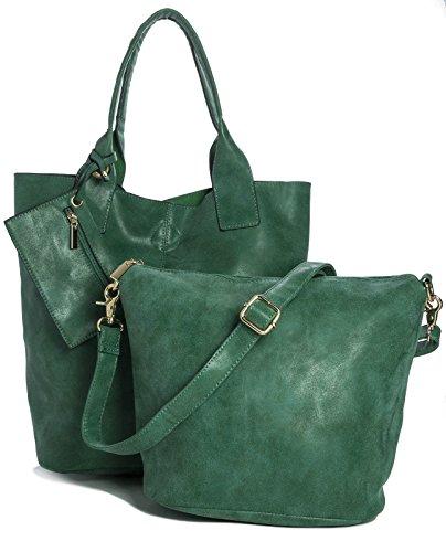 Big Handbag Shop - Sacchetto donna Verde (Lush Green)