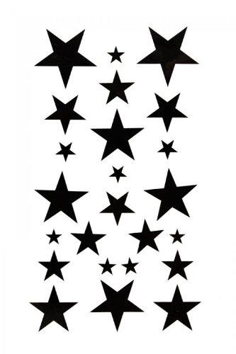 Spestyle impermeabile non tossico stickersbody tatuaggio temporaneo pittura temporaneo tatuaggi impermeabile tatuaggio temporaneo black star