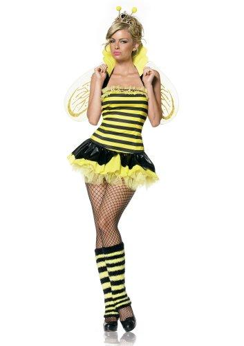 Bee Kostüm Daisy - Leg Avenue Bienen Kostüm 4-teilig, 1 Stück