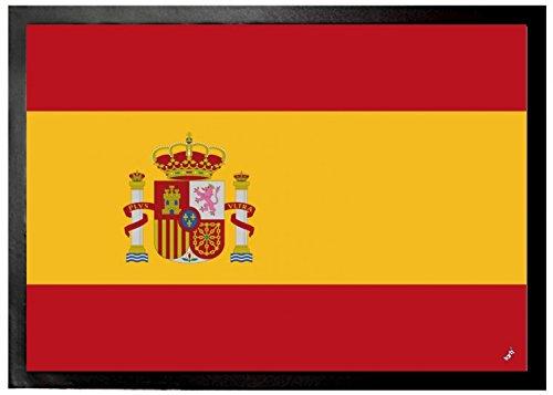 1art1 97118 Spanien - Flaggen Der Welt Fußmatte Türmatte 70 x 50 cm -
