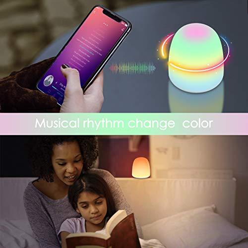 Led Nachtlicht für Baby zum Schlafen Entspannende Unterhaltung, Touch Dimmbar Nachttischlampe Stimmungslichtmit Augenschonendem Warmem/Kaltem Licht und 256 RGB Farbwechsel - WarmemKaltem, Unterhaltung, Touch, Stimmungslichtmit, schlafen, RGB, Nachttischlampe, nachtlicht baby, Nachtlicht, Licht, Kind, Farbwechsel, Entspannende, Baby