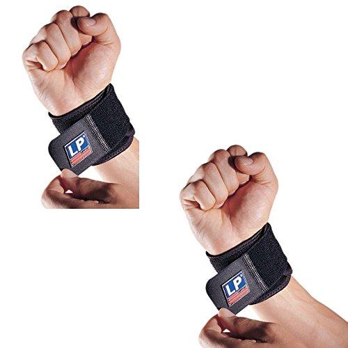 LP Support [2er Set] Handgelenkbandage / Handgelenkstütze / Handgelenkschoner / Bänder / Bandagen für Bodybuilding + Fitness