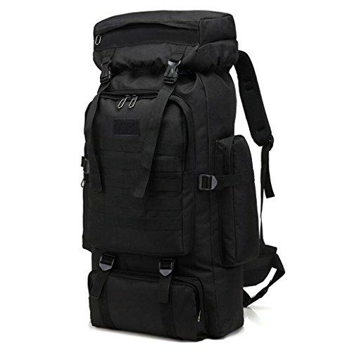 Gkkxue borsa da viaggio outdoor da uomo borsa da alpinismo multiuso borsone da viaggio casuale 80l di grande capienza (colore : black)
