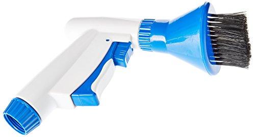 Kerlis 14042 Nettoyeur brosse pour filtres à cartouche pour piscine - Plastique Blanc/Bleu 19 x 19 x 21 cm