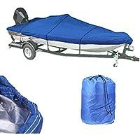Trailerable Barco pesado 210d Universal funda impermeable para barco remolque pesca esquí Covers, Blue11-13ft, Blue11-13ft