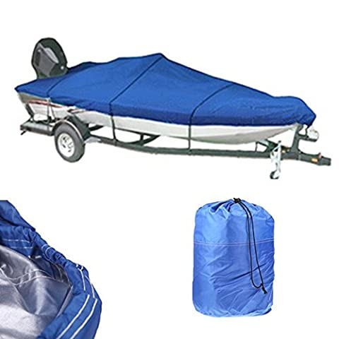 Trailerable Heavy Duty Boat Cover Universal 210D Boat Cover Waterproof Trailer Fishing Ski Covers