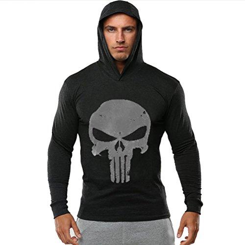 ROBO Gym Herren Tank Top Sport Langarm Men Stringer Fitness Gym Shirt Solide Sport Vest Lange Ärmel