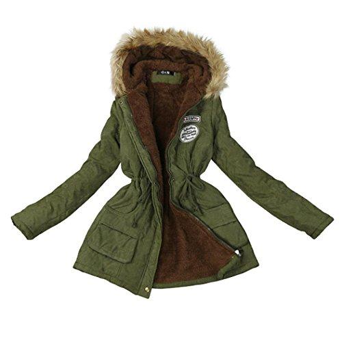 Mantel Strickjacke Damen Cardigan Jacket Frau Winterjacke Beiläufig Outwear Lange Slim Fit Lange Ärmel Jacken Kapuzenpullover Von Xinan (M, ❤️Rosa)