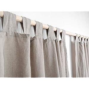 Schlaufenvorhang aus Leinen. Leinen Vorhang. Leinenvorhänge/Leinengardinen