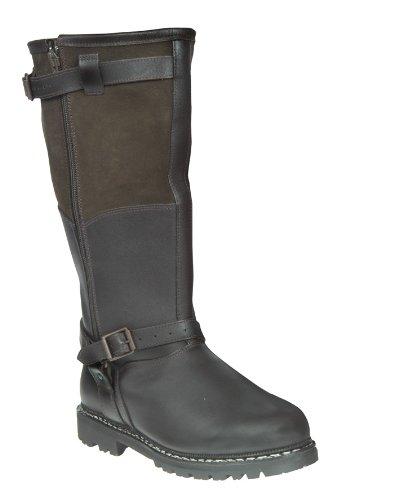 Meindl Fliegerstiefel dunkelbraun, Größen:47 - Dunkelbraune Leder Kinder Schuhe