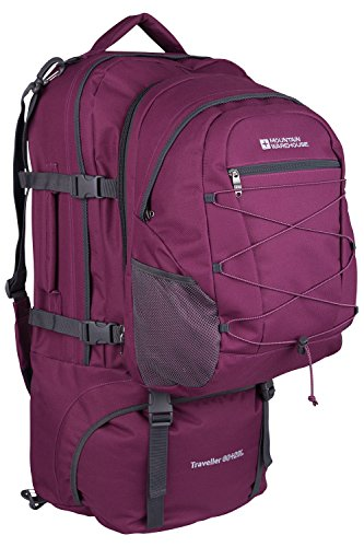 Mountain Warehouse Zaino Viaggiatore 60 + 20L Nero Viola