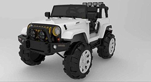 Babycar 0905b - Auto per Bambini Jeep Adventure con Telecomando Ammortizzatori e Mp3, 12 Volt, Bianco